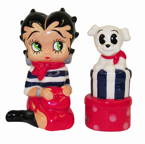 SPOONTIQUES 16930  BETTY BOOP STAINLESS WINE TUMB