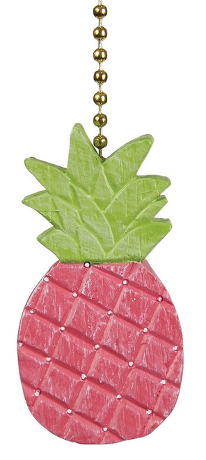 Pretty in Pink Pineapple Ceiling Fan Light Dimensional Pull