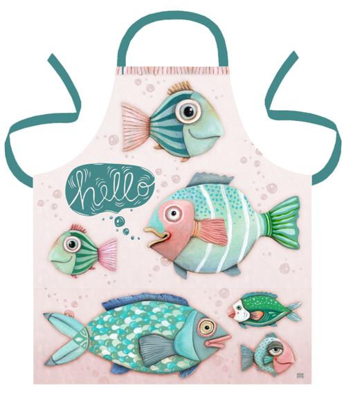 Allen Designs Hello Fish in the Sea Kitchen Apron Printed Cotton