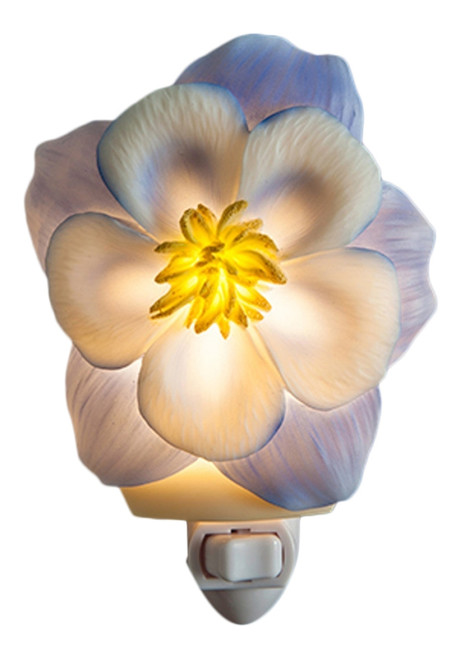 Primrose Pretty Petals Night Light Bonded Marble Electric
