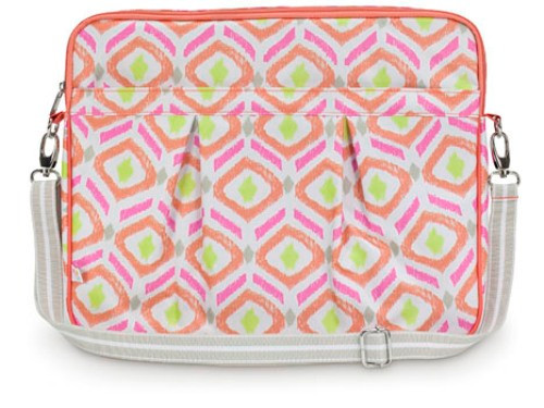 Sunrise Key Pink Orange Lemon Print Large Laptop Carrying Case