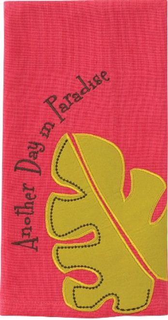 Another Day in Paradise Hot Pink South Seas Guest Towel