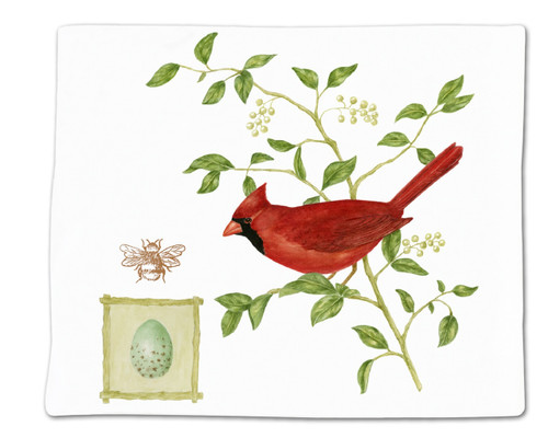 Alice's Cottage Red Cardinal on Branch Flour Sack Kitchen Towel 36 Inches