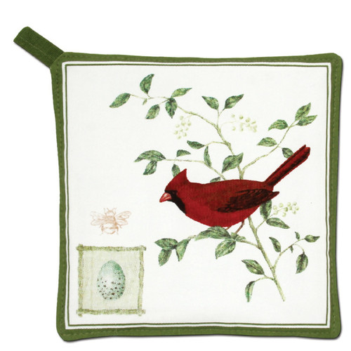 Alice's Cottage Red Cardinal on Branch Kitchen Potholder