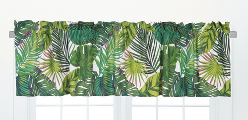 Layla Palm Fronds Window Valance 72 Inches Green