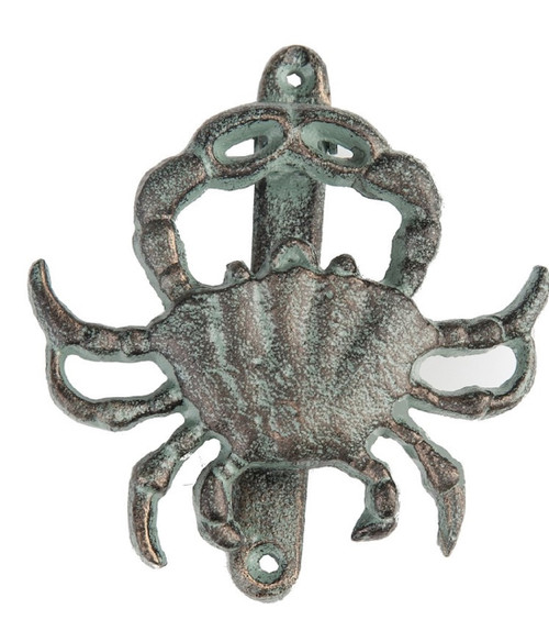 Crab Shaped Door Knocker Cast Iron 5 Inches