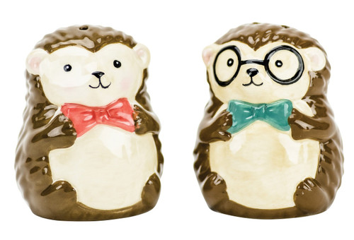 Boston Warehouse Bow Tie Hedgehog Salt and Pepper Shakers
