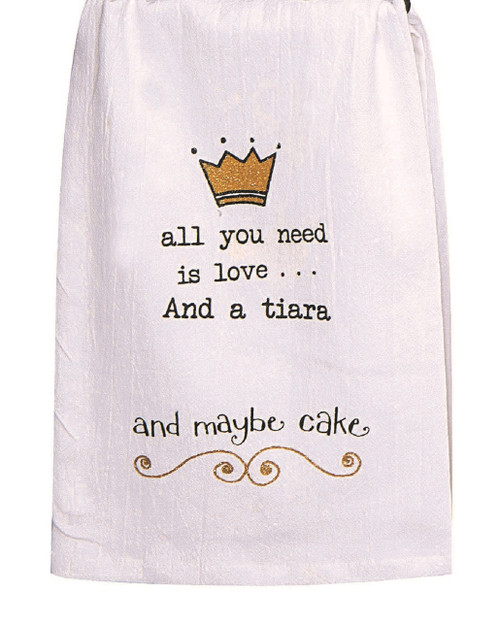 All You Need is Love Girlfriends Embroidered Krinkle Flour Sack Kitchen Towel