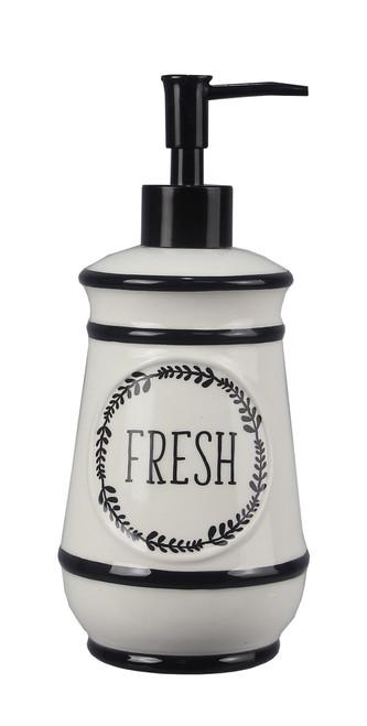 Fresh Laurel Wreath Soap or Lotion Dispenser Ceramic Kitchen or Bath