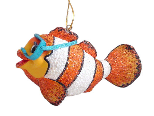 Aquatic Ocean Baby Chloe the Clown Fish Goggles Swim Holiday Ornament