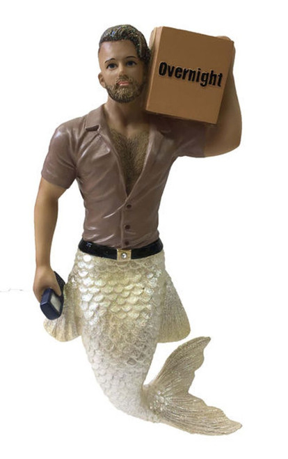 December Diamonds Big Package Overnight Merman Holiday Ornament