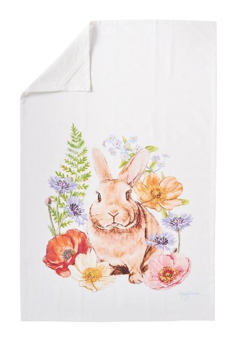 Sunny Bunny Printed Flour Sack Kitchen Dish Towel