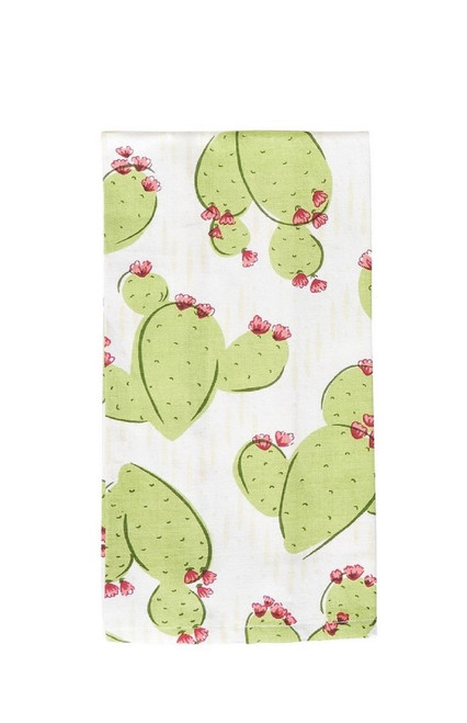 Coronado Cactus Printed Kitchen Dish Towel Green and Pink