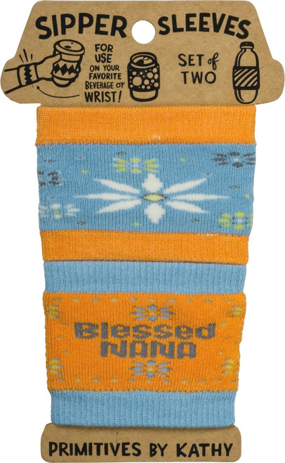 Blessed Nana Sipper Sleeves Travel Cup or Water Bottle Cozy Covers Set of 2