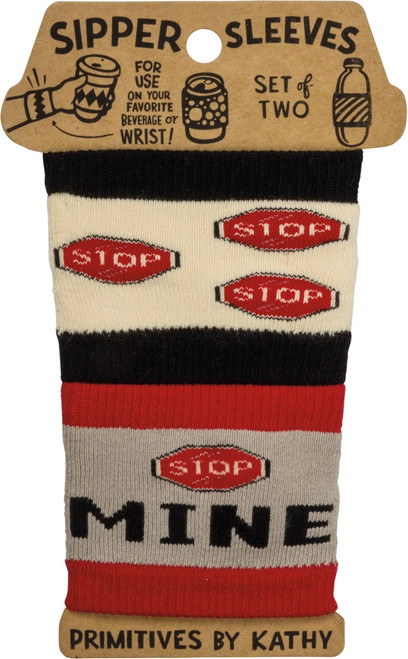 Mine Not Yours Sipper Sleeves Travel Cup or Water Bottle Cozy Covers Set of 2