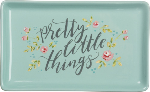 Primitives by Kathy Pretty Little Things Trinket Tray Stoneware 6.75 Inches