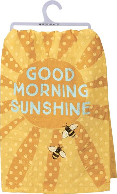 Primitives by Kathy Good Morning Sunshine Yellow Bumblebees Kitchen Dish Towel