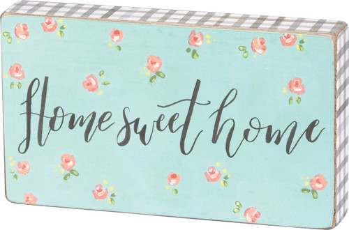 Primitives by Kathy Home Sweet Home Wood Block Sign 6 Inches