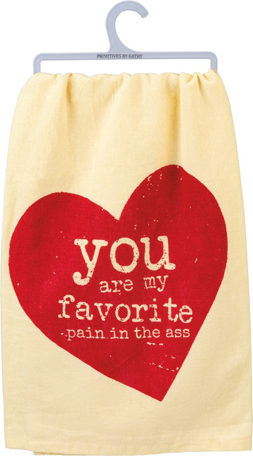 Primitives by Kathy You Are My Favorite Red Heart Kitchen Dish Towel