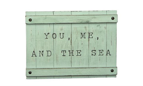 Mud Pie You Me and the Sea Planked Sea Wall Plaque Wood 8 Inches
