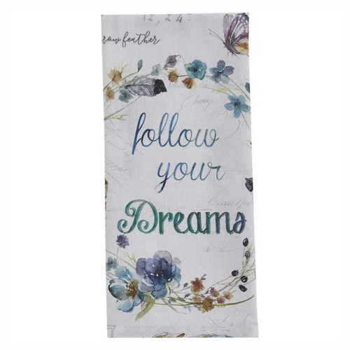 Park Designs Follow Your Dreams Flowers Birds and Bees Kitchen Dish Towel