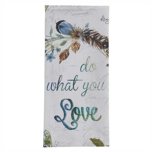 Park Designs Do What You Love Birds and Birdhouses Kitchen Dish Towel