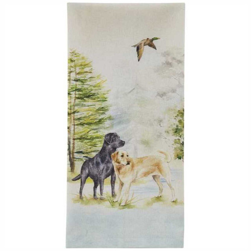 Park Designs Lab Dogs in Woods Printed Kitchen Dish Towel