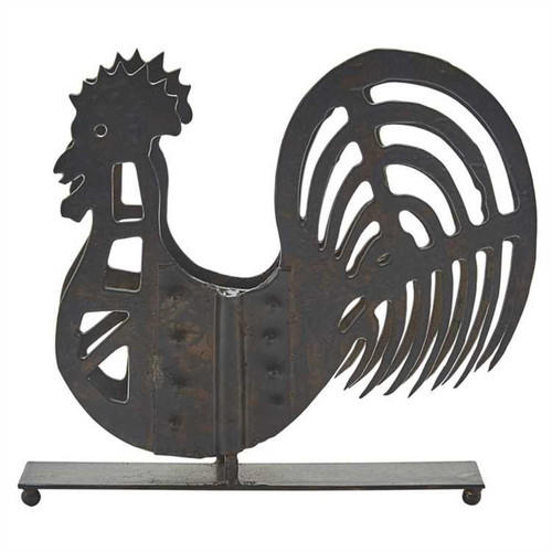Park Designs Folk Rooster Shaped Luncheon Napkin Holder Distressed Iron
