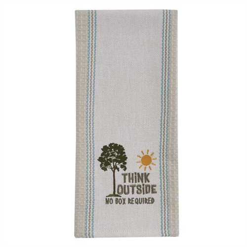 Park Designs Think Outside No Box Required Embroidered Kitchen Dish Towel