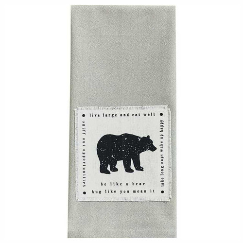 Park Designs Be Like a Bear Kitchen Dish Towel Appliqued
