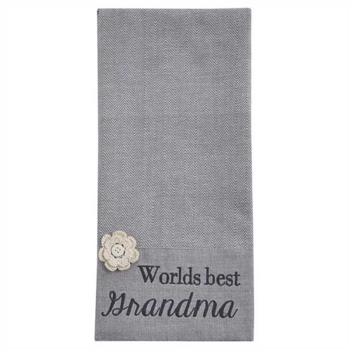 Park Designs Worlds Best Grandma Embroidered Kitchen Dish Towel
