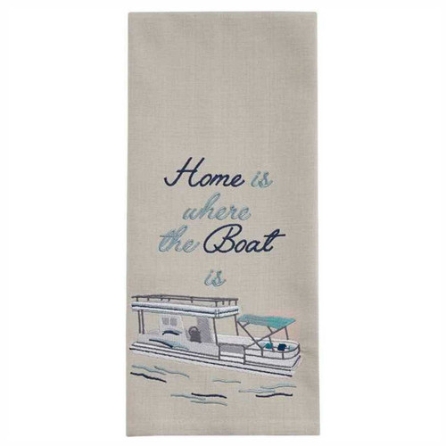 Park Designs Home is Where the Boat is Embroidered Kitchen Dish Towel