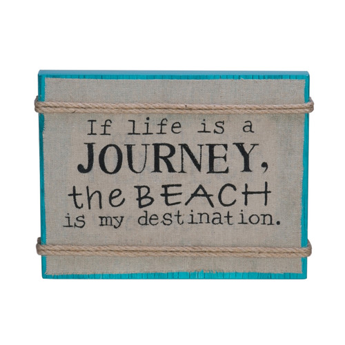 If Life a Journey Beach is My Destination Wood Box Plaque Sign 9 Inches