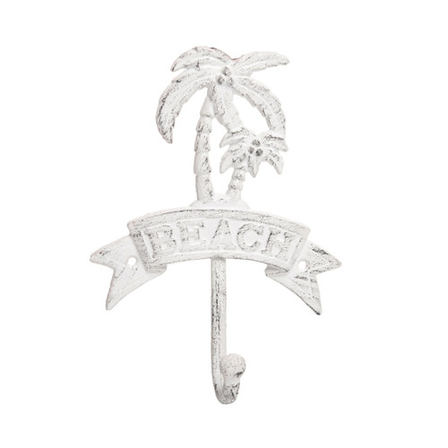 Beachcombers Beach Palm Tree Single Wall Hook Painted Metal