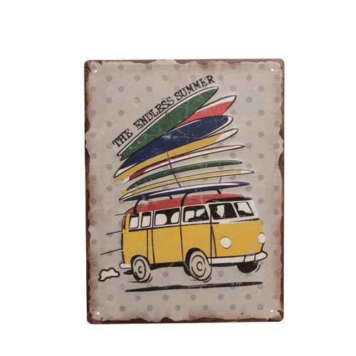 Beachcombers Surf Van Surfboards The Endless Summer Sign Metal 15.75 Inches