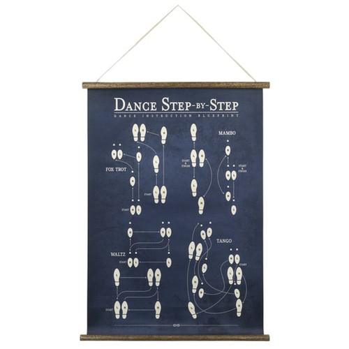 Midwest CBK Dance Step by Step Scroll Art Wood and Paper Wall Decor 24 Inches