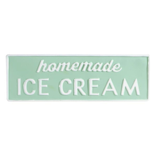 Midwest CBK Mint Green White Enameled Homeade Ice Cream Wall Plaque 17.50 Inches