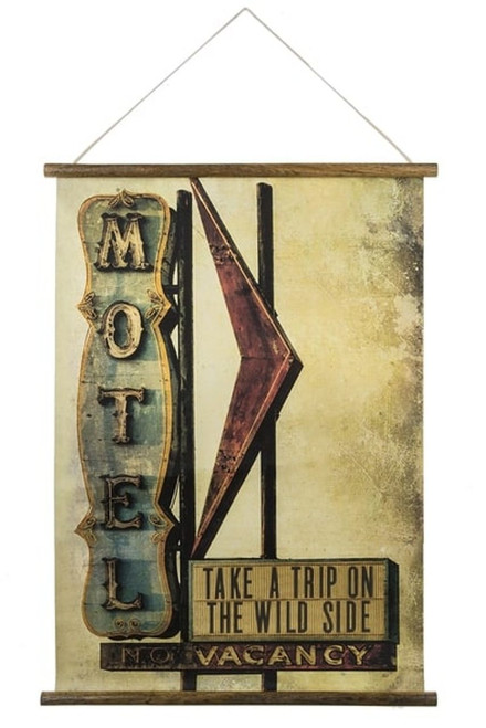 Midwest CBK Take a Trip on Wild Side Scroll Art Wood Paper Wall Decor 24 Inches