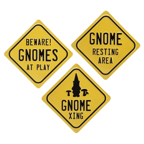 Midwest CBK GnomeXing Resting Area At Play Wall Signs Set of 3 Metal