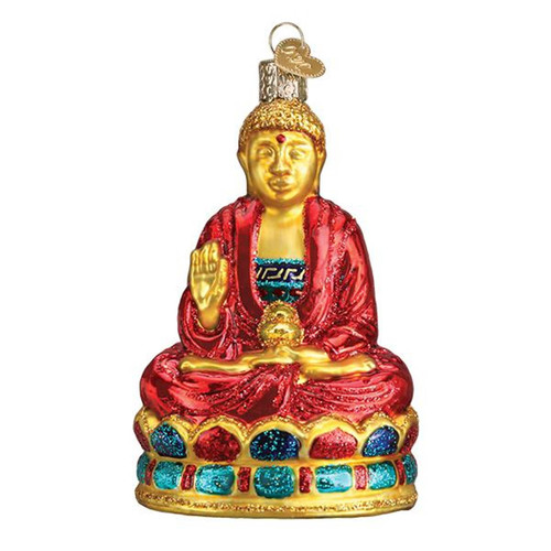 Old World Christmas Buddha Holiday Ornament Glass