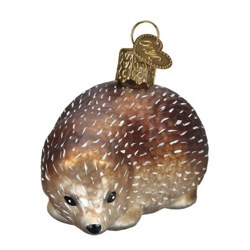 Old World Christmas Vintage Inspired Hedgehog Woodland Holiday Ornament Glass