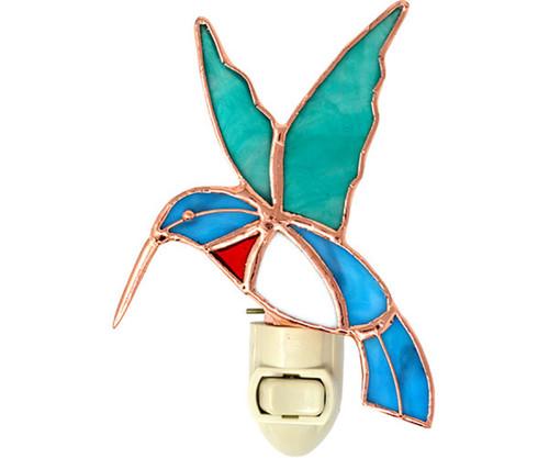 Hummingbird Night Light Electric 7 Watt 5.25 Inches Glass