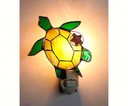 Sea Turtle Night Light Electric 7 Watt 5 Inches Glass