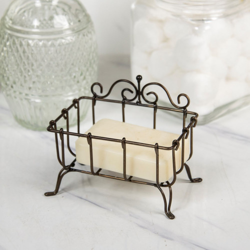 Wire Bar Soap Holder Vintage Inspired 5 Inches Metal