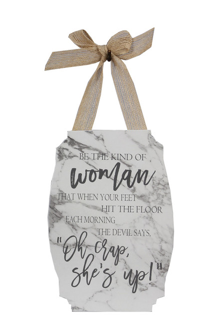 Be the Kind of Woman Hanging Wall Art Wood 7.75 Inches