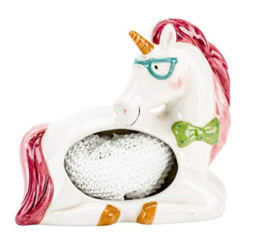 Magical Unicorn Kitchen or Bath Scrubby or Bar Soap Holder