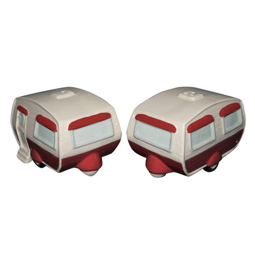Campers Salt and Pepper Shakers 3.75 Inches