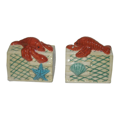 Lobster Trap Salt and Pepper Shakers Dolomite