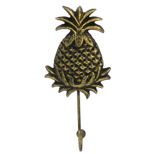 Pineapple Shaped Single Wall Hook Cast Iron 8 Inches