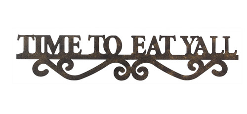 Time to Eat Yall Kitchen Wall Sign Licensed Paula Deen Decor Metal 23.75 Inches